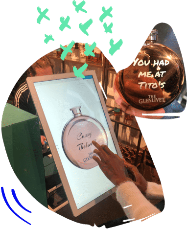 engraved flask touch screen